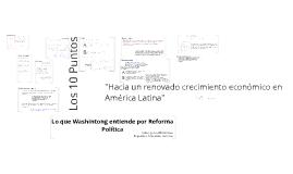 Lo que Washintong entiende por Reforma Política