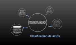 Clasificación de actos