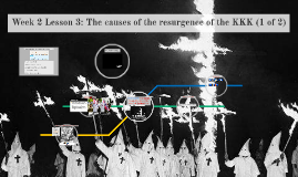 Week 2 Lesson 3: The causes of the resurgence of the KKK (1 of 2)