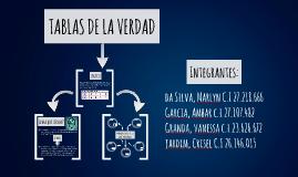 TABLAS DE LA VERDAD