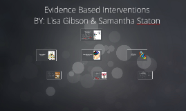 Copy of Evidence Based Interventions