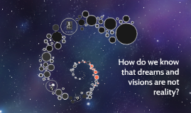 How do we know that dreams and visions are not reality?
