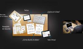 Copy of Elaboración del Silabo
