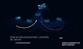 NIVEL DE ORGANIZACION DE LA MATERIA