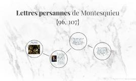 Lettres persannes de Montesquieu
