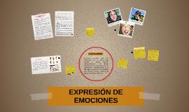 EXPRESIÓN DE EMOCIONES