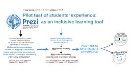 ACTIVITY Prezi as an inclusive tool