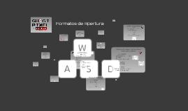 Formatos de Apertura
