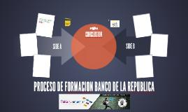 PROCESO DE FORMACION BANCO DE LA REPUBLICA