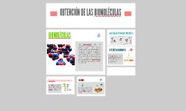 OBTENCIÓN DE LAS BIOMOLÉCULAS