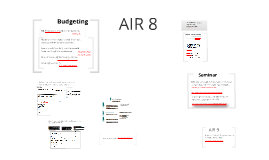 AIR 8 Budgeting and personal statement