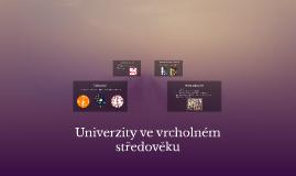 Univerzity ve vrcholném středověku
