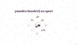 paarden houderij en sport