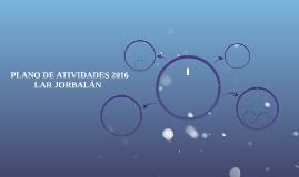 PLANO DE ATIVIDADES 2016
