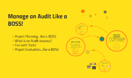 Manage an Audit Like a BOSS!
