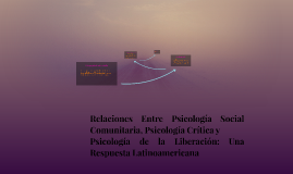 Relaciones Entre Psicología Social Comunitaria, Psicología C