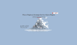 Macro Regional Strategy for the Alpine Region