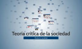 Teoría crítica de la sociedad