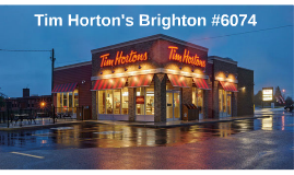Tim Horton's Brighton #6074