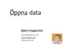 Seminarie och workshop om Öppna data - Göteborg