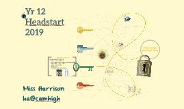 Yr 12 Headstart
