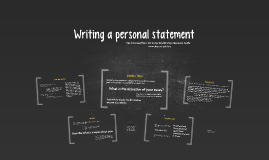Copy of Writing a personal statement