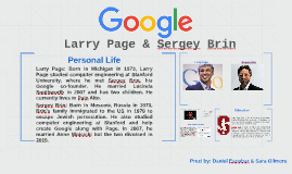 The Founders of Google: Larry Page & Sergey Brin