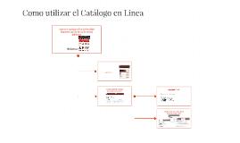 Como utilizar el Catálogo en Linéa