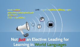 Not Just an Elective: Leading for Learning in World Language