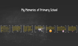 My Memories of Primary School Anthony