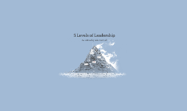 5 Levels of Leadership by Jonh C Maxwell
