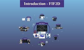 Introduction - FIF2D