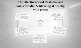 The effectiveness of Custodial and non-custodial Sentencing
