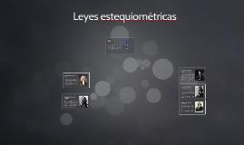 Copy of Leyes estequiométricas