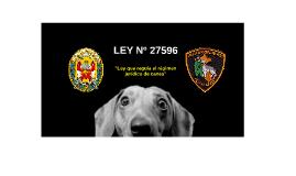 LEY Nº 27596