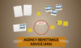 AGENCY REMITTANCE ADVICE (ARA)