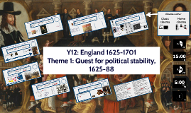 Y12: England 1625-1701. Quest for political stability, 1625-88