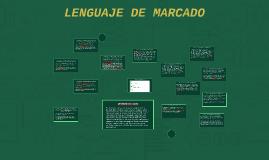 LENGUAJE DE MARCADO