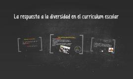 La respuesta a la diversidad en el currículum escolar