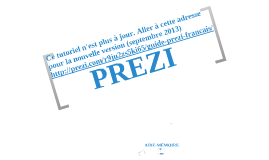 Copy of Tutoriel PREZI en français