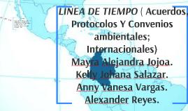 LINEA DE TIEMPO (Acuerdos, Protocolos Y Convenios ambientales; Internacionales )