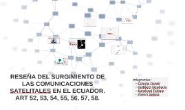RESEÑA DEL SURGIMIENTO DE LAS COMUNICACIONES SATELITALES EN