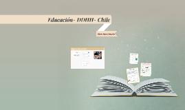 Copy of Educación- DDHH- Chile