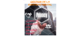 GESTION DE LA IDENTIDAD DIGITAL