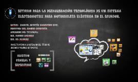 ESTUDIO PARA LA DESAGREGACIÓN TECNOLÓGICA DE UN SISTEMA ELEC