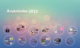Årskrönika 2013