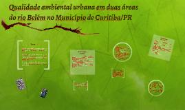 Qualidade ambiental urbana em duas áreas do rio Belém no Mun