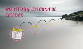 AUDITORIA EXTERNA DE CALIDAD