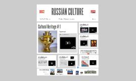 Copy of RUSSIAN CULTURE