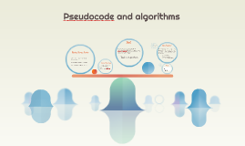 Pseudocode and algorithms